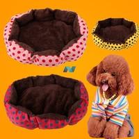 New Unique Pet Puppy Soft Pet Bed Warm Bed Dot Pattern Pet Nest