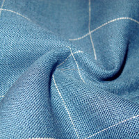 fashionable 100% linen yarn dyed check fabric for shirting, curtains