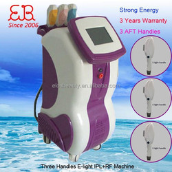 Medical CE approved new design 3 handles vertical e light ipl rf beauty equipment