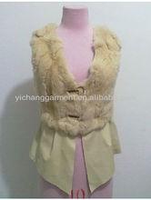 woman genuine rabbit fur vest