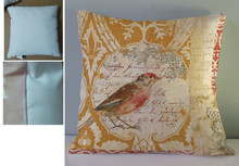 Shabby chic style seat covers for buses & beautiful bird print