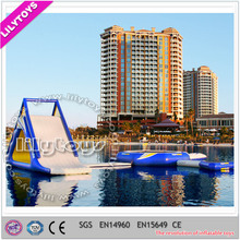 2015 Cheap price inflatable floating island, large inflatable water toys