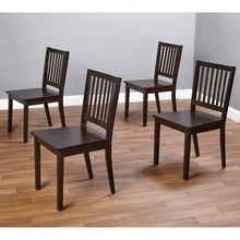 Simple Living solid wood Slat Espresso dining chairs(set of 4)