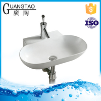 GT-3063 bathroom vanity Ceramic Fancy Wall Hung Basin