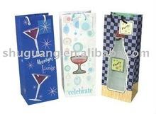 Single Bottle Personalized Wine Gift Bags
