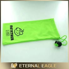 digital print bags/logo printed microfiber sunglasses pouch/micro fiber pouch