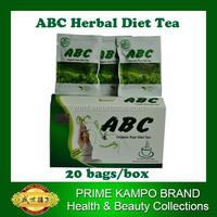 Hot sale Pu're diet tea, 20 bags/box slimming herbal tea, weight loss quickly, ABC diet tea,