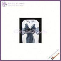 light pink sash Navy Blue chair bow organza sash chair wedding party bows china manufacturer supplier wholesaler