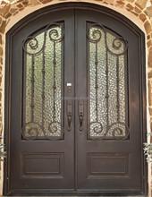 Double Front Security Door Design Door with copper color