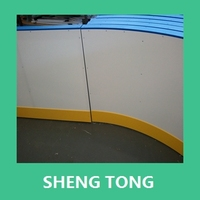 uhmwpe synthetic ice rink barrier, plastic roller skating court rail /fence board