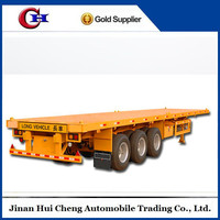 40ft Container Carry Tri-Axle Flatbed Trailer