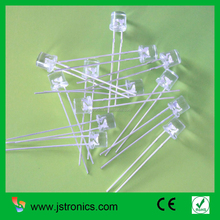 Through hole flat top 5mm natural white 4000K light emitting diode