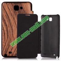 Wood Pattern Leather Extended Battery Case for Samsung Galaxy s2 hd lte cover