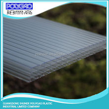 Wholesale products china 8.0mm to 20mm Thickness pc four wall long life span polycarbonate greenhouse roofing