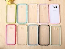 TPU Bumper PC Matt Back Cover Cell Phone Case For Samsung Galaxy S6 Edge