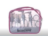 Wholesale Empty plastic bottle Travel kit with beautiful PVC bag