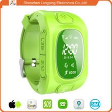 Food grade strap waterproof smart watch kids digital waterproof SOS/GPS smart watch