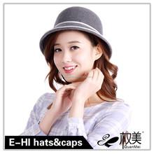lastest design headwear decorate girls wool felt hat