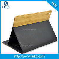 For iPad air Carbonized Bamboo Leather Case