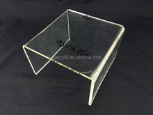 Customized clear acrylic laptop stand