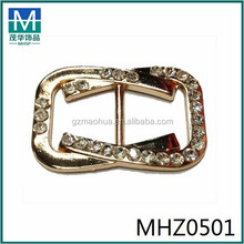 MHZ0501 cheap metal shoe bows for flattie alloy shoe buckles shoe casting ornament