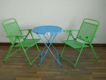 Garden Use Wrought Iron Metal Folding Table, Picnic Table, Foldable Table