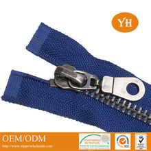 High quality #8 open-end nickel color gun metal zipper for leather