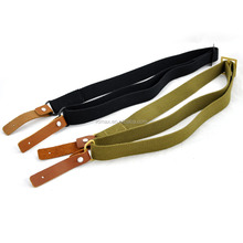 3 colors hot sale basic gun sling by leather and cotton webbing