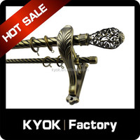 KYOK curtain handle poles, twisted curtain poles finials,round curtain poles home decoration projects