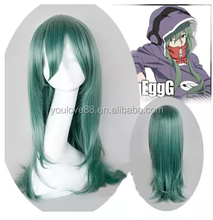 Wholesale Price High Quality Kagerou Project Kido Tsubomi Green Cute 65cm Long Straight Cosplay Wig