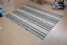 Machine wovened stripe pattern rugs, use for outdoor or indoor carpets and rugs