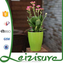 2015 mini colorful decoration potted flower and Christmas decor plastic flower pot