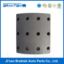 Non-asbestos, Semi-metal Truck and Trailer Brake Shoe Lining for Kassbohrer Made in China