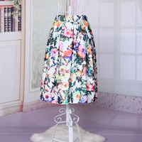 Bestdress.us womens elegant retro vest skirt floral round collar slim dress