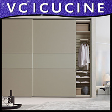 Modern modular melamine China Foshan bedroom wardrobe