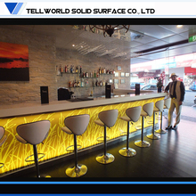 2015 Newest LED Bar Artificial Marble top Bar Counter for Sale/Modern Commercial Furniture