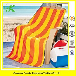 Factory Colored Cotton Stripes Beach Towel Lounge Chair Cover