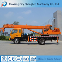 HIGH EFFICIENT SMALL 5 TONS TRUCK CRANE SIZES