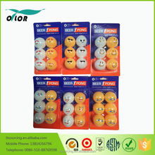 Blister card Wholesale Colorful Pingpong balls from China