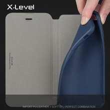 Book style flip leather cover case for mobile phone for iphone 6 6s