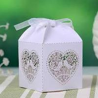 paper folding gift box sweet paper box white fashion box for wedding