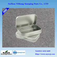 Rectangular hinged small metal tin boxes