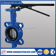 long service life worm gear handle butterfly valve with rubber sealing
