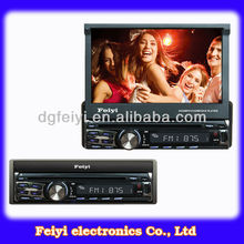 "Universal 1 Din Car DVD with 7"" Full Motorized Screen"