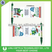 Flyer Calendar Logo Pen With Rubber Grip