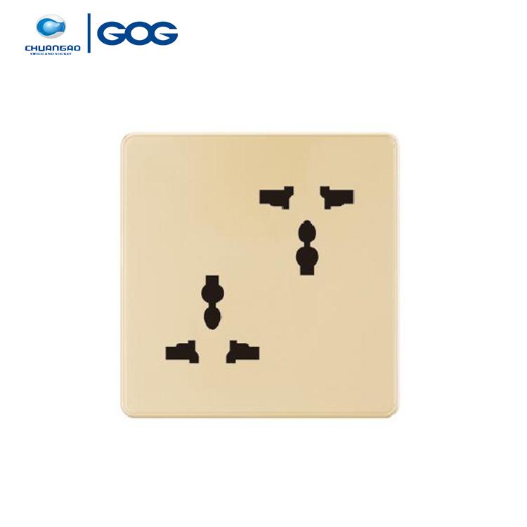 GOG çift 3 pin fiş mk anahtarı soket, 10A 2 gang MF soket