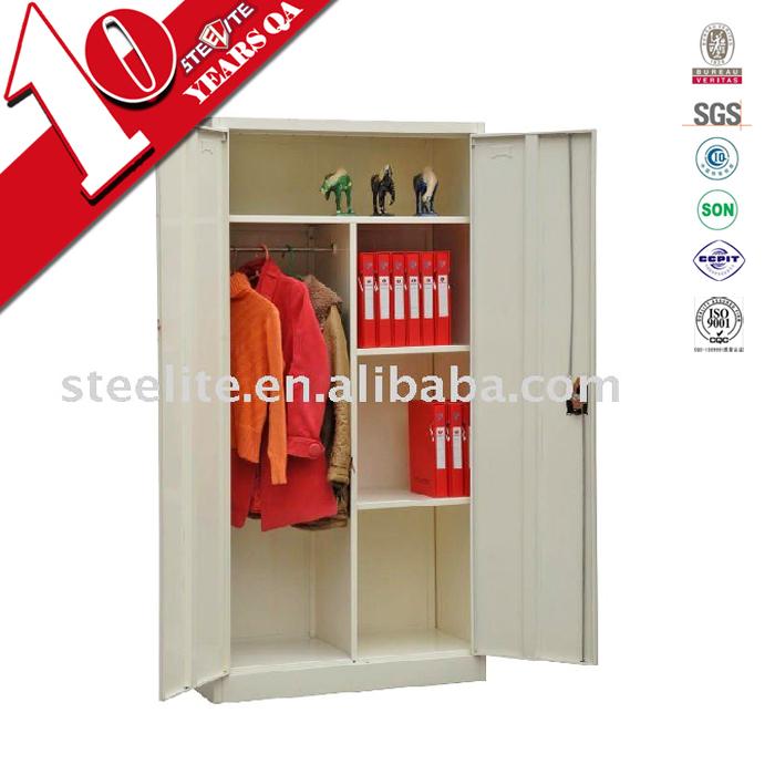 Wardrobe Steel Multi Function Double Door Clothes Storage Cabinets