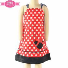 ShiJ Spaghetti Strap Polka Dots Minne Child Red Dresses Frock Design For Baby Girl