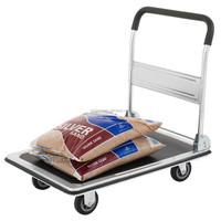 Folding Platform Trolley Hand Truck Mobile Cart Handle 300kg Capacity Flat
