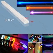 7 x 10mm plastic optic fiber lighting stair light tuber roof light bar pet collar